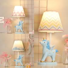 <b>Cartoon Unicorn</b> LED Desk <b>Light</b> Dimmable Resin 1 <b>Light</b> Blue Plug ...
