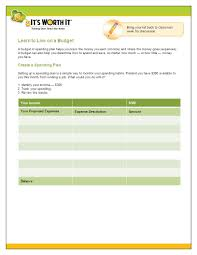 Sample Of Family Budget Sample Family Budget Learn To Live On A Budget A Budget Or Spending