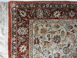 oriental persian style area rug hand knotted very high quality silk wool 2 x 3