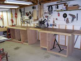 work benches a storage solution home designs work diy garage workbench with storage