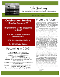 Free Editable Churchewsletter Templates Youth Ministry