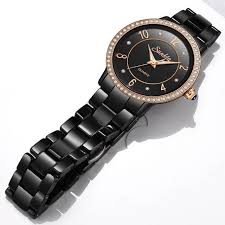 Online Shop <b>SunKta</b> Luxury <b>Rose</b> Gold Black Ceramic Waterproof ...