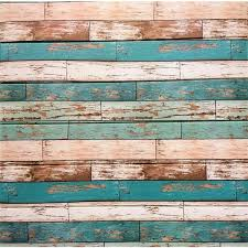 sepia tan teal faux distressed planks