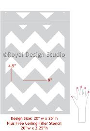 modern and classic patterns for painting walls chevron wall stencils royal design studio