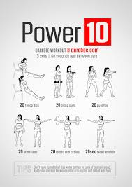 Power Of 10 Workout Chart Power 10 Workout Projects To Try Arm Workout No