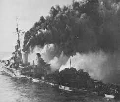 Image result for war ship sinking