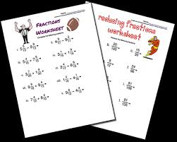 Printable Math WorksheetsFractions Worksheets
