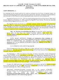 Hdmf Case 3 Mercury V Hdmf Case Certiorari Law Of The Case