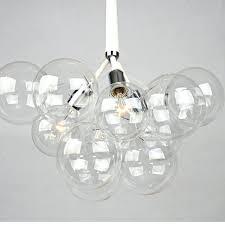 pendent light glass modern black white creative glass bubble pendant lamp light glass shade suspension hanging