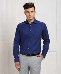 Blackberrys Mens Self Design Formal Spread Shirt
