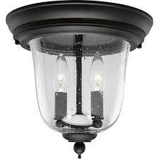 p5562 31 ashmore textured black two light outdoor flush mount