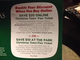 busch gardens promo codes. Delighful Gardens Christmas Town  Kingsmill Resort Williamsburg VA Intended Busch Gardens Promo Codes E