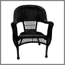 Livingston Outdoor Black Wicker Chairs Set Of 2  Transitional Black Outdoor Wicker Furniture