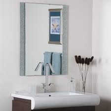 Frameless Bathroom Mirror Wade Logan Longwell Green Frameless Wall Mirror Reviews Wayfair