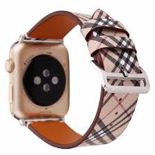 Designer Apple 4 Watch Bands Designer Apple Watch Band 44mm 42mm 40mm 38mm Burberry Plaid
