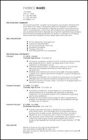 Principal Resume Template Best Of Free Contemporary School Principal Resume Templates ResumeNow