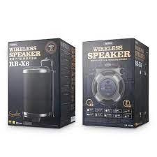 Loa kéo Karaoke Bluetooth cao cấp Remax RB-X6 công suất khủng 57W + Tặng 2  micro không dây - Loa kéo