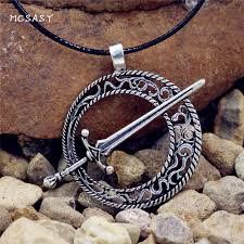 mcsays norse viking jewelry dark soul dark moon blade sword pendant punk necklace mens amulet jewelry gifts 1sl