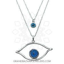 customize evil eye fashion jewelry bijou necklace gbj3nc6186 1 at grand bazaar jewelers