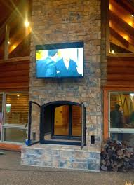 see through outdoor fireplace back to indoor outdoor fireplace incredible custom see through wood burning home