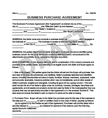purchase agreement sample create a business purchase agreement templates