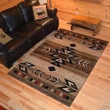 rustic area rugs lodge southwestern desert cabin ivory rug multi x on free