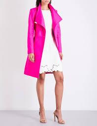 women coats jackets ted baker kikiie wool blend coat women fuchsia ted baker fashion