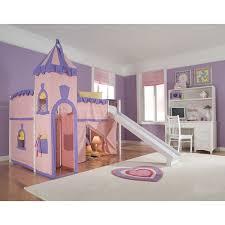 loft with slide. ne kids school house white junior loft with slide and princess tent
