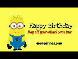 Minion Happy Birthday Ecard Youtube