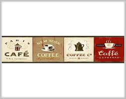 kitchen wallpaper borders coffee