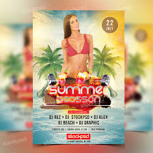 free flayers summer season psd free flyer template art inspiration