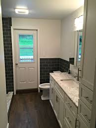 Wondrous Design Galley Bathroom Ideas Modern With Twin Basins Using Glass  Photo Galaxy Remodeling