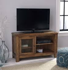 Tamonie Rustic Brown TV Stand with Fireplace Option