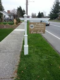 Decorative Sign Posts Use A Newel Post To Create A More Decorative Real Estate Sign 54