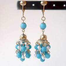 cer dangle earrings cornflower blue earring blue chande