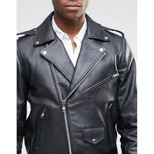 mens leather biker jacket with back patch