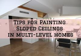 tips for painting sloped ceilings in