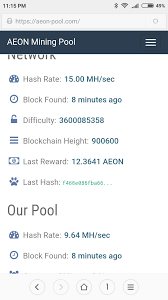 Aeon Coin Difficulty Chart Aeon Pool At 64 And Climbing Aeon