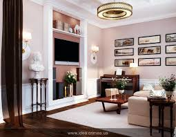 Neoclassical living room interior modern-living-room