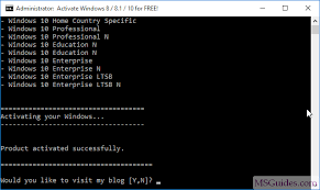 to activate windows 10 for free without