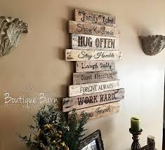 wood sign family rules family art rustic wall decor farmhouse decor country home decor family inspirational decor rustic reclaimed wood gift family rules  on always forever inspirational reclaimed wood wall art with family family rules sign wood sign wall decor farmhouse decor