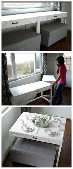 small home furniture ideas. Glossy White Desk Convertible Furniture For Small Spaces Home Ideas