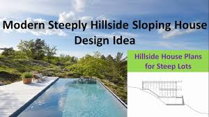 fascinating sloping hill house plans contemporary best inspiration