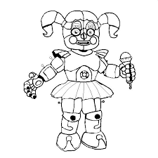 Fnaf Coloring Pages Baby