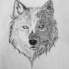 wolf drawing. Interesting Drawing Aztec Wolf Drawing Intended Wolf Drawing O
