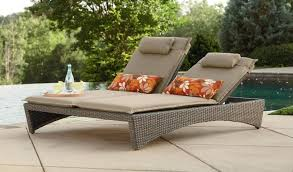 image outdoor furniture chaise. Chaise Lounges : Double Lounge Outdoor Furniture Color For Wicker Image