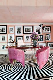office design ideas home. fine ideas raspberry leather chairs by designer kelly wearstler bring color to the  office in a bel air to office design ideas home