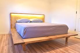 leather platform bed king size full size of bedroom king size platform bed with attached nightstands