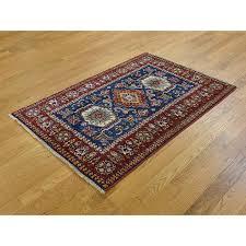 2 6 x 4 rug 3 2 x4 6 hand knotted super kazak geometric design oriental