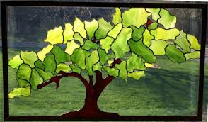 tree of life stained glass panel design 2016 paned expressions studios fabricated